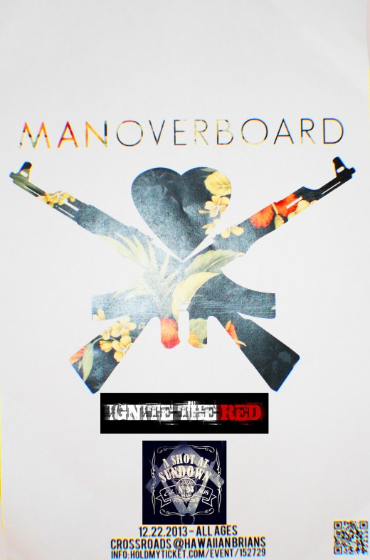 Opening for Man Overboard Dec. 22nd @ Hawaiian Brian's.